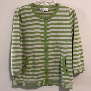 Jones  New York Cardigan sweater SZ M EUC